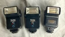 3 Camera Flashes Vivitar 2800, Sunpak Auto 222  (E10)