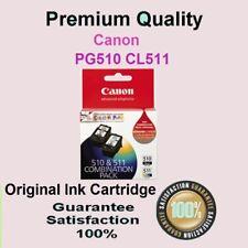 2 x Genuine PG510 CL511 Ink Cart CANON PIXMA MP490 MP492 MP495 MX320 MX330 MX340