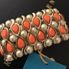 BRACELET ANNA DELLO RUSSO FOR H&M GOLD ORANGE PEARL CUFF