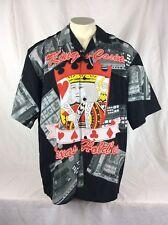 King's Casino Texas Holdem Poker Aloha Hawaiian Black Shirt Mens Size Xxl Poly