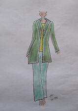 ORIGINAL MODEZEICHNUNG Modeskizze Damen fashion sketches 20-792