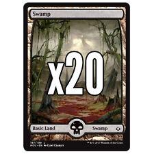 20 Hour of Devastation FULL ART Swamp # 187 - MTG Basic Land Lot Magic