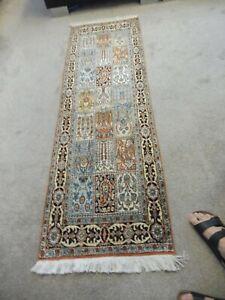 Sehr schöner Orientteppich , Kaschmirseide , 180cm x 58cm  , Läufer (Galerie)