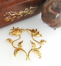 Brass Spray Double Flower Stamping - Findings Flower Stamping (Fa-6096)