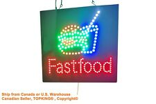 Fastfood Sign, TOPKING Signage, LED Neon Open, Store, Window, Shop, Business
