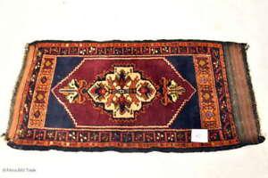 Zauberhafter Antiker Gebetteppich Wandteppich Orientteppich Handgeknüpft Nr. 10
