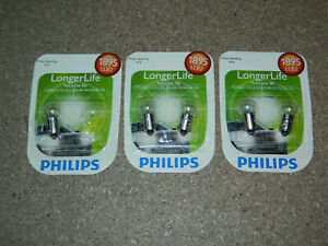 (3) PACKS OF 2 PHILIPS LONGER LIFE 1895 SIGNAL LAMP LIGHT BULB 1895LLB2