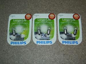 (3) PACKS OF 2 PHILIPS LONGER LIFE 1895 SIGNAL LAMP LIGHT BULB 1895LLB2