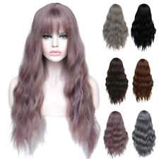 Cosplay Long Women's Wig with Bangs Curly High Temperature Fiber Hair Latest