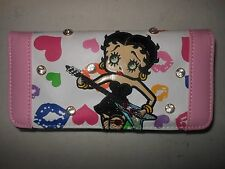 Betty Boop Wallet - Brand New in Box - White with Pink Trim - FREE US SHIPPING!!