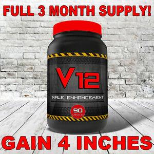 V12 EXTREME PENIS ENLARGEMENT PILLS - FULL 3 MONTH SUPPLY (90 CAPSULES)!!