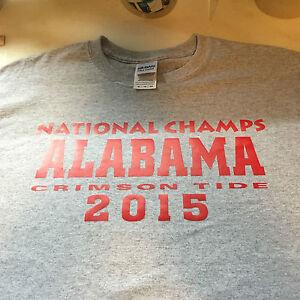 t-shirt Alabama Crimson Text National Champs CHAMPION 5 sizes Pink Tide 2015