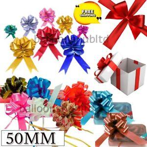 Pull Bows 50mm Large Florist Ribbon Wedding party Car Decor Gift wrap uk