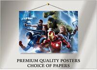 Marvel Avengers Hulk Thor Movie Large Poster Art Print Gift A0 A1 A2 A3 Maxi