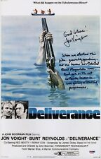 JON VOIGHT SIGNED DELIVERANCE 11X17 MOVIE POSTER W/INSCRIPTIONS PSA COA AD48123