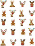 Cute Reindeer (Christmas) Waterslide Nail Decals/Nail Art