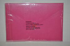 "Poppin Work Happy Pink Rose Storage Folio File Folder Envelope Size 9"" x 13"""