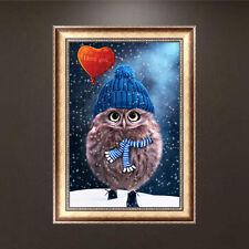 5D Diamond Embroidery Painting DIY Pet Owl Mosaic Stitch Craft Kit Home Decor