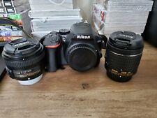 Nikon d3500 with 18mm - 55mm f/3.5-5.6g kit lens and 50mm f/1.8g lens