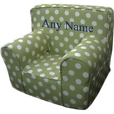 Insert For Anywhere Chair + Green Polka Dot Cover Small Embroidered Blue