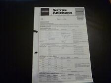 Original Service Manual Grundig Melody Boy 600 600a