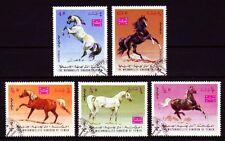 Yemen 1967 used c.t.o Mi.429/33 A Arabische Pferde Arabian Horses