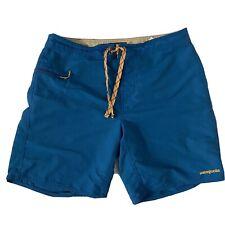 PATAGONIA Blue Wavefarer Board Shorts Swim Trunks Mens Sz 34