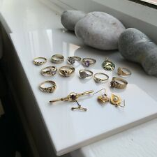 Gob Lot Of Resale 9ct Gold With 14ct Gold Pendant 37.4 Grams / Diamonds, Etc
