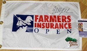 Phil Mickelson Signed FARMERS INSURANCE OPEN Pin Flag - JSA COA