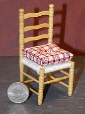 Dollhouse Miniature Kitchen Chair Oak Finish MISSING RUNG 1:12 1 inch scale  H68