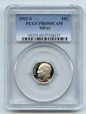 1992 S 10C Silver Roosevelt Dime Proof PCGS PR69DCAM