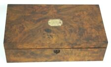 Antique Victorian Walnut Writing Slope Stationery Box - FREE Shipping [PL4738]