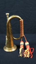 More details for mid 20th century british army bugle with insignia and cord/tassels