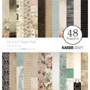Antique Essentials Collection 12X12 Paper Pad Scrapbooking Kaisercraft PP235 New