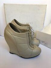 NINA RICCI Leather Platform Boots 38