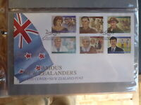 NEW ZEALAND 1995 FAMOUS NEW ZEALANDRS SET 6 STAMPS FIRST DAY COVER