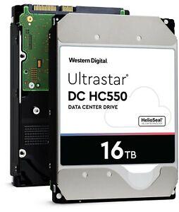 """WD Ultrastar DC HC550 16TB SATA 3.5"""" Enterprise HDD — WUH721816ALE6L4 (0F38462)"""