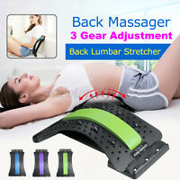 ❤Adjustable Back Stretcher Lumbar Pain Relief Support Massager Posture Corrector