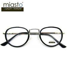 MIASTO ROUND OVAL PREPPY READING GLASSES+1.50 LIGHTWEIGHT MEDIUM SMALL~ BLACK