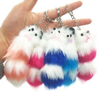 Cute PlushFox Keychain Creative Bag Hanging BackpackPhone Pendant Accessories_QA