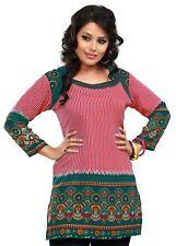 Reino Unido stock-Mujeres Moda indio corto Kurti Kurta Top Camisa Vestido Túnica 55B