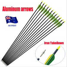 "10x 32"" EXTRA HEAVY DUTY ALUMINIUM ARROWS FOR COMPOUND AND RECURVE BOW ARCHERY E"
