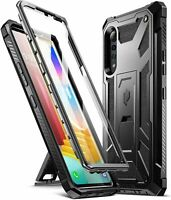 For LG Velvet 5G Case | Rugged Shockproof Dual Layer Protective Cover Black