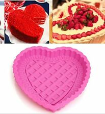 "8"" Big Heart Shape Silicone Cake Muffin Bread Pastry Baking Mold Pan Bakeware"