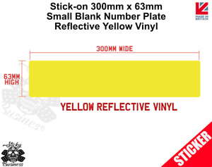 Stick On SMALL 30cm BLANK Number Plate Trailer Car Truck registration REFLECTIVE