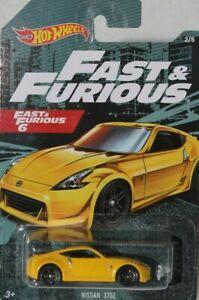 Hot wheels HW Fast & Furious 6 Nissan 370Z Car 2/5 Yellow FNQHotwheels FH512