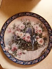 Lena Liu's Basket Bouquets Roses by Ws George Collector's Plate 1992