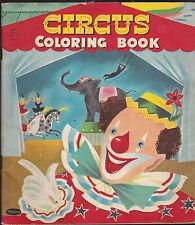 Circus Coloring Book Whitman 1956  #2951 6 1/2 x 7 1/2