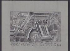 HONEY I BLEW UP THE KID 1992 ORIGINAL STORYBOARD ART CARL ALDANA TENT NET GUN