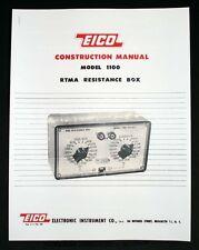 EICO Model 1100 RTMA Resistance Box Construction Manual